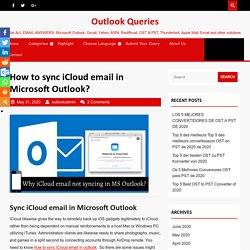 How to sync iCloud email in outlook in easy steps?