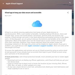 ICloud app to keep your data secure and accessible