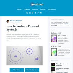 Icon Animations Powered by mo.js