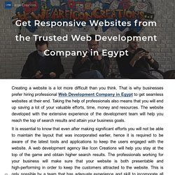 Get Responsive Websites from the Trusted Web Development Company in Egypt