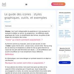Guide des icones : styles graphiques, outils, exemple - Céline Caniot