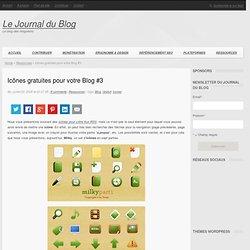 Icônes gratuites pour votre Blog #3 : Le Journal du Blog
