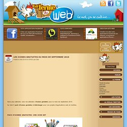 Les icones gratuites du mois de septembre 2010