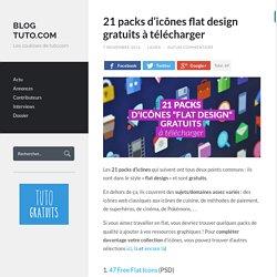 21 packs d'icônes flat design gratuits à télécharger - Blog Tuto.com