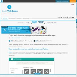 Créez les icônes de votre prochain site web avec Flat icon