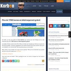 Plus de 17000 icones en téléchargement gratuit | Korben's B