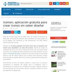 Iconion, aplicación gratuita para crear iconos