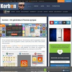 Iconion - Un générateur d'icones sympas