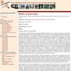 Iconothèque russe et soviétique : Staline, le tyran rouge