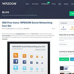 500 Free Icons: WPZOOM Social Networking Icon Set