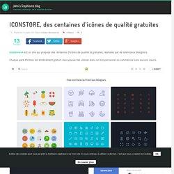 ICONSTORE, des centaines d'icônes de qualité gratuites