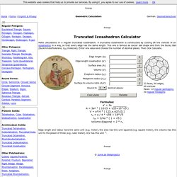 Geometry: Truncated Icosahedron Calculator