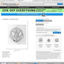 Icosahedron art print at DaVinciLeonardo.com