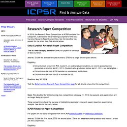 ICPSR Research Paper Competition