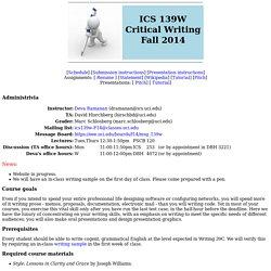 ICS139W Fall 2014