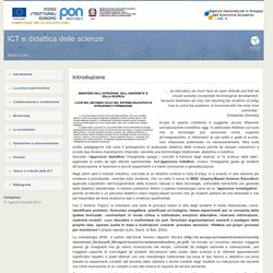 ICT e didattica delle scienze