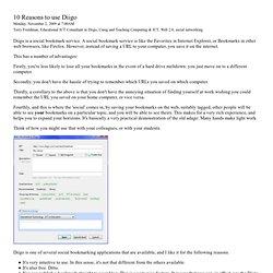 Reasons to Use DIIGO by Terry Freedman