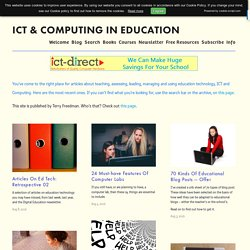 Articles - Educational Technology - ICT in Education