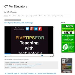 ICT For Educators