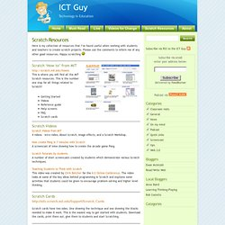 ICT Guy » Scratch Resources