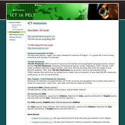 iCT resources - ICT in PELT