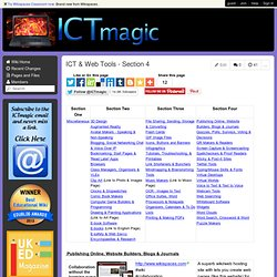 ICT & Web Tools - Section 4