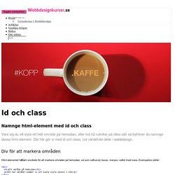 Id och class – Webbdesignkurser