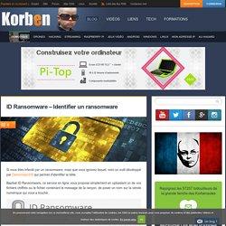 ID Ransomware - Identifier un ransomware