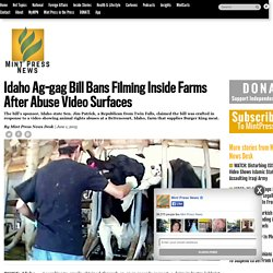 Idaho Ag-gag Bill Bans Filming Inside Farms After Abuse Video Surfaces