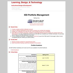 IDD Portfolio Management Site
