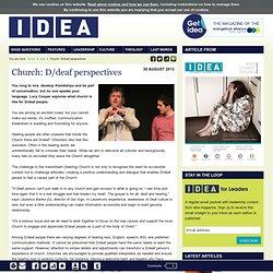 idea:Church: D/deaf perspectives