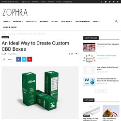 An Ideal Way to Create Custom CBD Boxes - Zophra