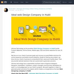 Ideal web Design Company in Hubli - beBee Producer