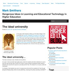 The ideal university | Mark Smithers