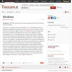 Idealismo nell'Enciclopedia Treccani