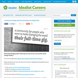 Welcome to Idealist.org - Imagine. Connect. Act.
