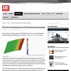 The Art of Idealization in Finite Element Analysis