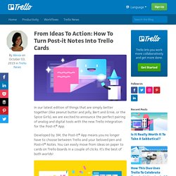 From Ideas To Action: How To Turn Post-it Notes Into Trello Cards