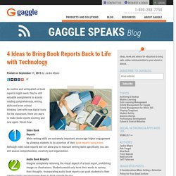4 Ideas to Bring Book Reports Back to Life with Technology