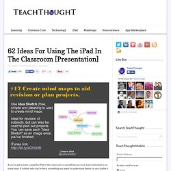 62 Ideas For Using The iPad In The Classroom [Presentation] -