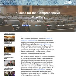4 Ideas for the Comprehensive University