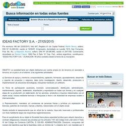 IDEAS FACTORY S.A. - 27/05/2015