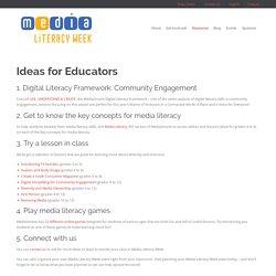 » Idées pour les éducateurs