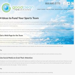 4 Ideas to Fund Your Sports Team - Soccer