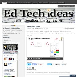 Ed Tech Ideas