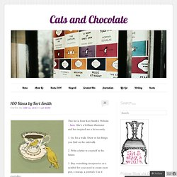 100 Ideas by Keri Smith « Cats and Chocolate