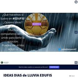 IDEAS DIAS de LLUVIA EDUFIS by Adal on Genial.ly