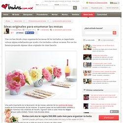 Ideas originales para enumerar las mesas - bodas.com.mx