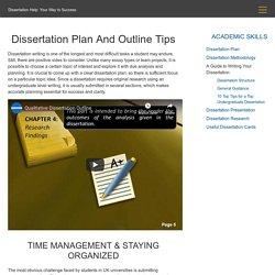 Ideas On Planning Your Dissertation