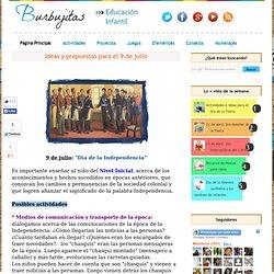 Ideas y propuestas para el 9 de julio - Burbujitas